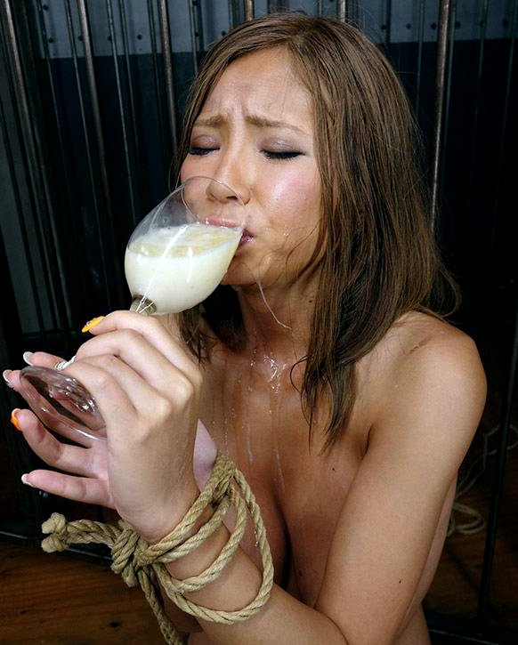 Yeah Bukkake cum drinking japan movie ritual her